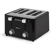 Amazon Westinghouse WT4201B 4 Slice Toaster Black Kitchen