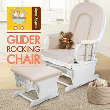 Armchair Breastfeeding Baby Glider Breast Feeding Sliding Rocking Nursing Chair