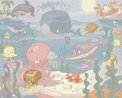 baby nursery baby room ideas wall murals ireland baby under the sea mural 2 wall murals by www wallmurals