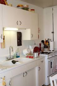 kitchen appealing blue white retro country kitchen decoration