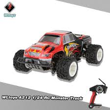 monster jam 1 24 scale trucks 100 pop wltoys a212 rc monster truck car 1 24 2 4g electric