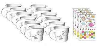decorate your own tea cup time tea party decorate your own favor cups 12 ct