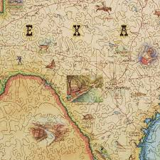 Pr Map Texas Map Wood Puzzle Xplorer Maps