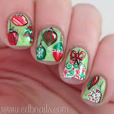 cdbnails 12 days of christmas nail art ornaments