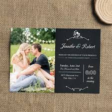 cheap chalkboard country photo engagement invitations ewei021 as