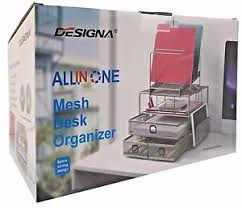 all in one desk organizer designa all in one mesh desk organizer with space saving design