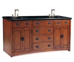 craftsman bathroom vanity cabinets mission style double mission sink vanity with black granite top