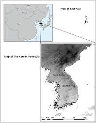 Map Of East Asia by Map Of The Korean Peninsula In The East Asia The Map Of East Asia
