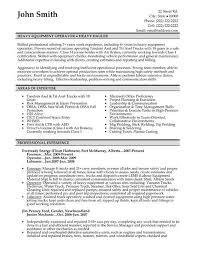 Certified Forklift Operator Resume Sample Resume Heavy Equipment Operator Professional Heavy