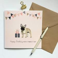 bulldog happy birthday card by sirocco design