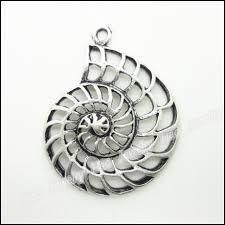 metal bracelet charms images 23 pcs vintage charms shell pendant antique silver fit bracelets jpg