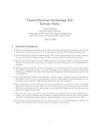 control systems technology lab lecture notes pdf download available