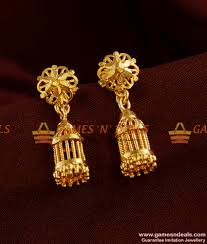 south indian cage jhumki trendy small design guarantee ear rings
