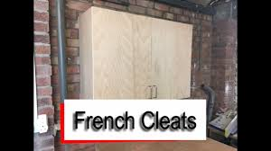 how to hang a cabinet to the wall cleats how to hang wall cupboards