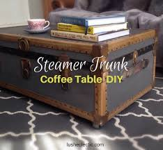 steamer trunk side table steamer trunk coffee table upcycle project lush eclectic design