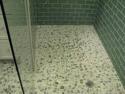 Preparing A Shower Floor For Tile by Valencia Cool Blend Pebble Tile 12x12 River Rock Stone Shower