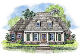Large Country Homes Harris Acadian House Plans Louisiana House Plans