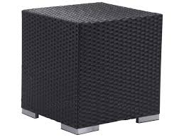 Zuo Outdoor Furniture by Zuo Outdoor Algarve Aluminum Wicker 17 7 Square Side Table In