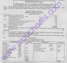aiou free solve assignment no 2 code 438 principles of accounting