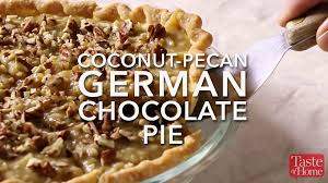 german chocolate pie video taste of home
