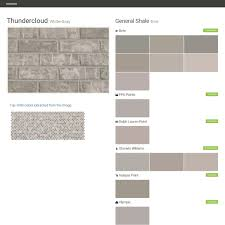 What Colors Match With Gray Thundercloud White Gray Brick General Shale Behr Ppg Paints