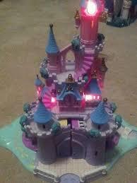vtg bluebird polly pockets cinderella castle figures lights coach
