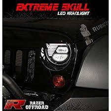 headlights jeep wrangler amazon com optix jeep wrangler 7 inch 75w headlights philips led