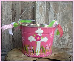easter pail easter personalized painted tin pail easter pail