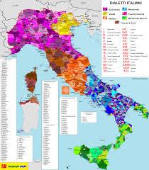 World Map Italy by Italian Dialects By Sb Language Maps Map Italy Italian Italia