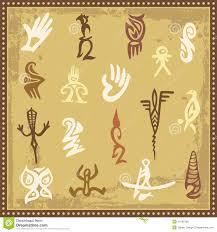 australian aboriginal petroglyph ornaments royalty free stock