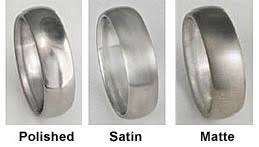 satin finish ring titanium hammered wedding band ring