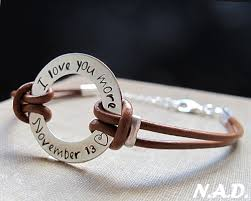 custom engraved bracelet men s adjustable leather bracelet custom engraved wristband men