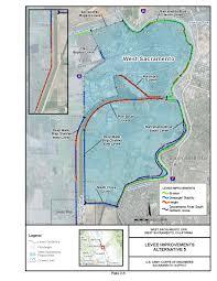 Sacramento Ca Map Sacramento District U003e Missions U003e Civil Works U003e West Sacramento