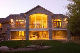 Lakefront Home Designs Lakefront House Plans With Walkout Basement Basement Decoration