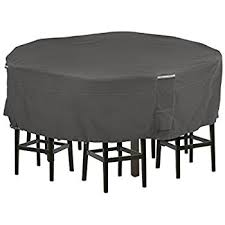 amazon com round bar table chair set cover patio chair covers