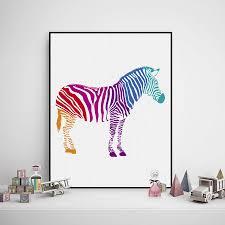 online buy wholesale zebra print canvas wall art from china zebra