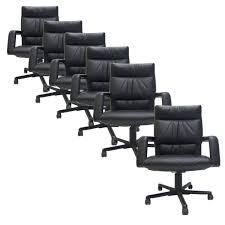 Nico Swivel Chair Mario Bellini For Vitra Black Leather Swivel And Tilt Executive