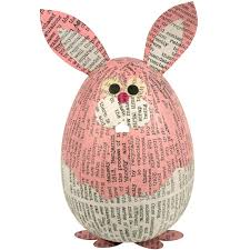 paper mache easter bunny paper mache rabbit from the philippines fair trade handmade