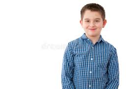 10 year boy with mischievous smile on white stock image image