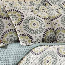 Grey Quilted Bedspread Melina Medallion Quilted Bedspread Bedding
