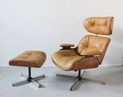 Armchairs And Ottomans Mid Century Modern Eames Style Lounge Chair And Ottoman By Selig