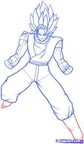 draw dragon ball characters body pencil