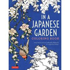 japanese garden coloring book u2013 getty store