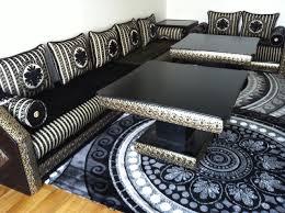 canape marocain formidable canape moderne pas cher 14 prestige noir dor233