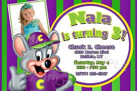 Birthday Invitation E Card Chuck E Cheese Birthday Invitations Plumegiant Com
