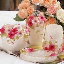 Bathroom Decor Set by Shabby Chic Le Bain White Ceramic Bathroom Accessories Set Brand