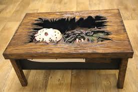themed coffee tables custom friday the 13th coffee table imprisons jason voorhees