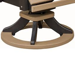 Swivel Chair Bases by Poly Lumber Comfo Back Swivel Rocker Dining Chair