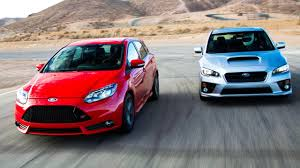 subaru cars 2014 2015 subaru wrx vs 2014 ford focus st head 2 head ep 50 youtube