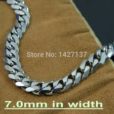 man necklace store images 7mm big man chain stainless steel silver cuban link chain necklace jpg